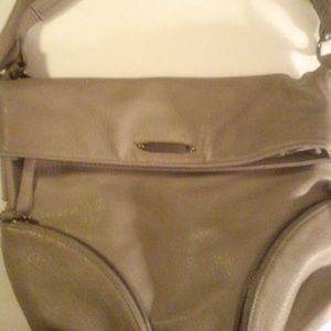 Nicole Miller Grey Leather Handbag *MAKE AN OFFER*